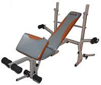 Скамья для жима EverTop 307 + Штанга 70 кг + Гантели 2*21 кг