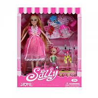 Кукла типа Барби Sally беременная с дочкой 8800-1