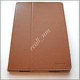 Коричневый оригинальный кожаный чехол-книжка Folio Case для планшета Lenovo A7600, фото 2