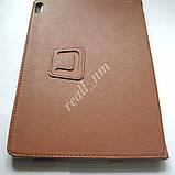 Коричневый оригинальный кожаный чехол-книжка Folio Case для планшета Lenovo A7600, фото 3
