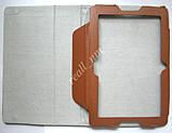 Коричневый оригинальный кожаный чехол-книжка Folio Case для планшета Lenovo A7600, фото 4