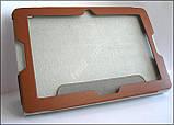 Коричневый оригинальный кожаный чехол-книжка Folio Case для планшета Lenovo A7600, фото 5