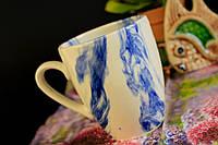 Чашка Европа, радуга голубая