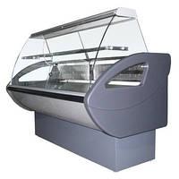 Холодильная витрина Россинка с гнутым стеклом Росс . Холодильное оборудование для магазинов
