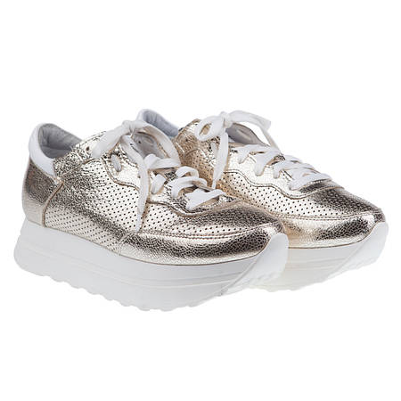 Комфортные кроссовки от SELESTA (модные, кожаные, золотистого цвета,  весна-лето) 037308abe80