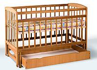 Ліжко дитяче на шарнірах з шухляда бук