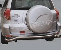 Защита заднего бампера (труба) Toyota RAV4 2006-2011, фото 1