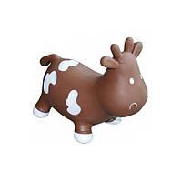 Игрушка прыгун Коровка Бетси Kidzzfarm с насосом шоколадно-белая
