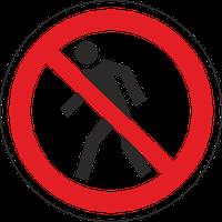 """Знак забороняючий Р 03 """"Прохід заборонено"""" / Знак запрещающий """"Вход (проход) воспрещен"""""""