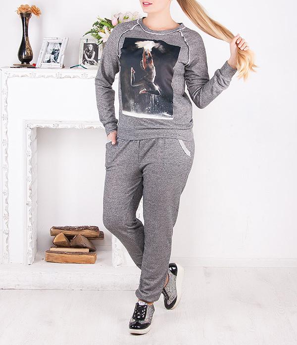 """Спортивный костюм женский """"Прыжок"""" до 62 размера"""