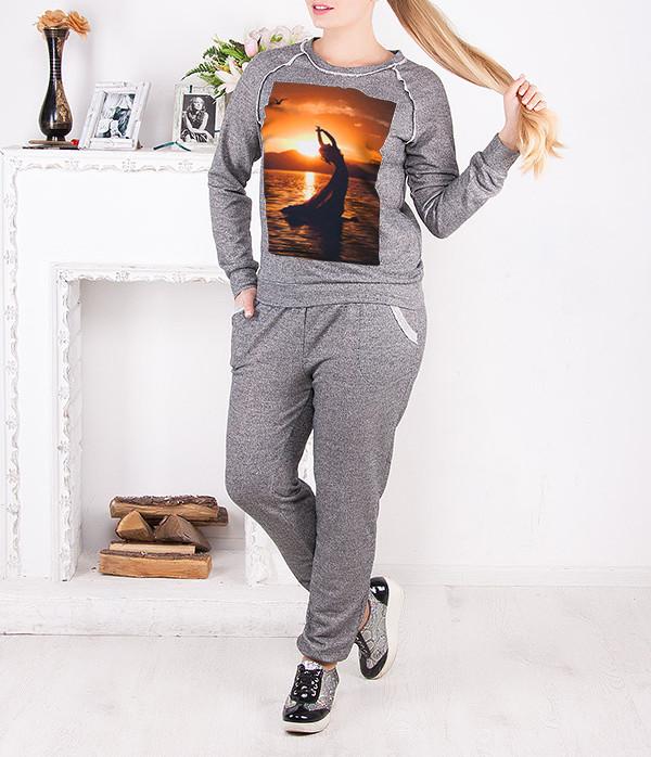 """Спортивный костюм женский """"Рассвет"""" до 62 размера"""