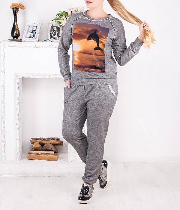 """Спортивный костюм женский """"Дельфин"""" до 62 размера"""