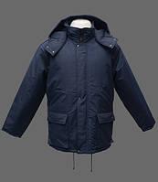 Куртка зимняя Тайга с капюшоном . Цвет:синий, черный