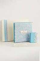 """Подарочный набор для Новорожденного Мальчика """"Фотоальбом + Блокнот"""" (24х24 + 12.5х9)"""