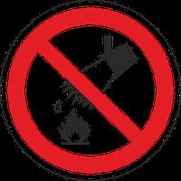 """Знак забороняючий Р 04 """"Заборонено тушити водою"""" / Знак запрещающий """"Запрещено тушить водой"""""""
