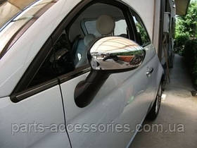 Хромовые накладки на зеркала Fiat 500 2012-2016 новые оригинал