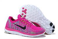 Кроссовки женские Nike Free 4.0 Flyknit D277 розовые