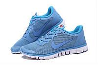 Кроссовки женские Nike Free Run 3.0 v2 D287 голубые