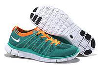 Кроссовки женские Nike Free 5.0 Flyknit D301 зеленые
