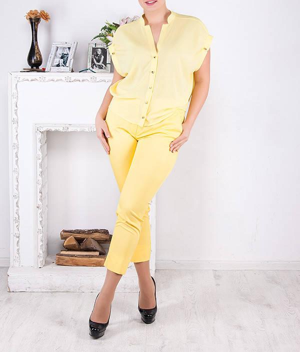"""Женские стильные брюки """"Аль-лимон"""" от 48 по 62 размер"""