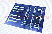"""Наклейки на планшете """"Monster"""" набор 8шт 20х25,5"""
