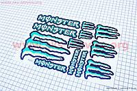 """Наклейки на планшете """"Monster"""" набор 12шт 17х26"""