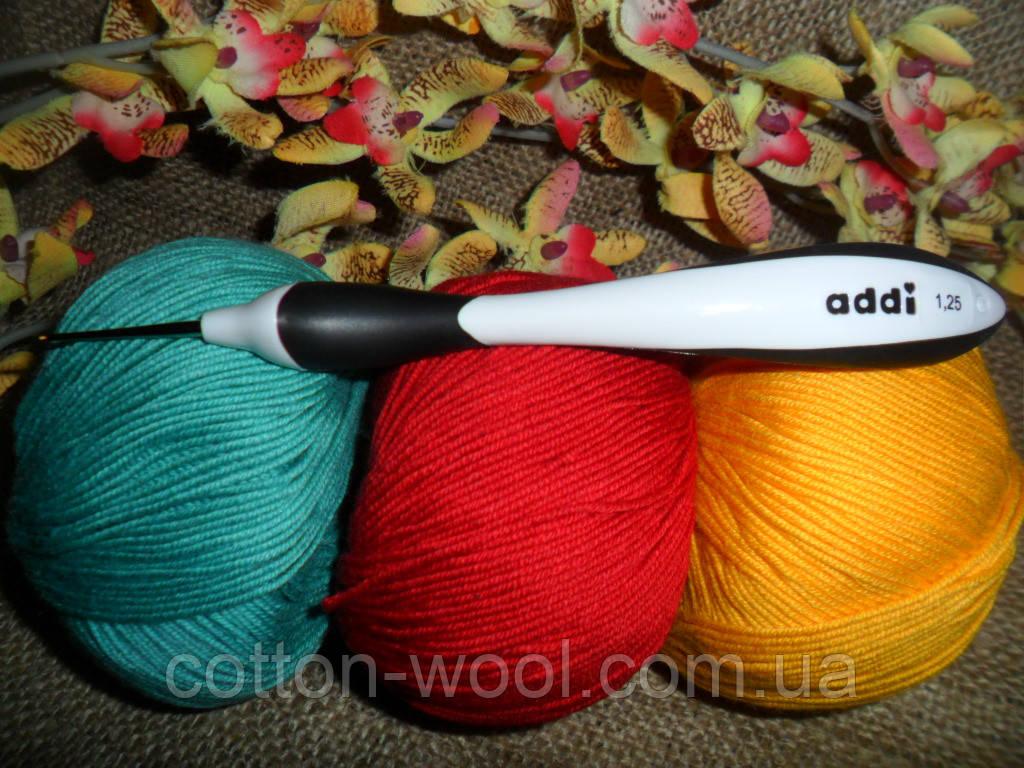 Addi swing (Адди) крючок вязальный №1.25,эргономическая ручка