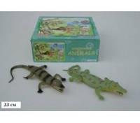 Игровая фигурка Силиконовый крокодил 33 см 2 вида, A022P