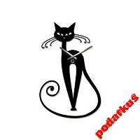 Настенные часы Черная кошка