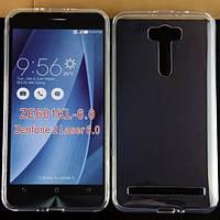 """Чехол силиконовый ультратонкий Epik для Asus Zenfone 2 Laser ZE601KL 6,0"""" прозрачный"""