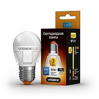 Светодиодная (LED) лампа VIDEX G45 6W 3000K 220V, фото 1