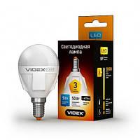 Світлодіодна (LED) лампа VIDEX G45 5W 3000K 220V E14, фото 1