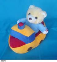 Мягкая интерактивная игрушка «Мишка в лодке», 30 см Арт. JM-093