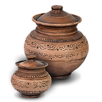Горшок для запекания глиняный Шляхтянский AC01 Покутская керамика