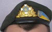 Берет шитый (оливковый, зеленый, синий, голубой, малиновый, черный), фото 1