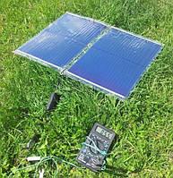 Гибкая солнечная зарядка14 Вт + USB переходник + аккумулятор Li-Pol 7200 mA