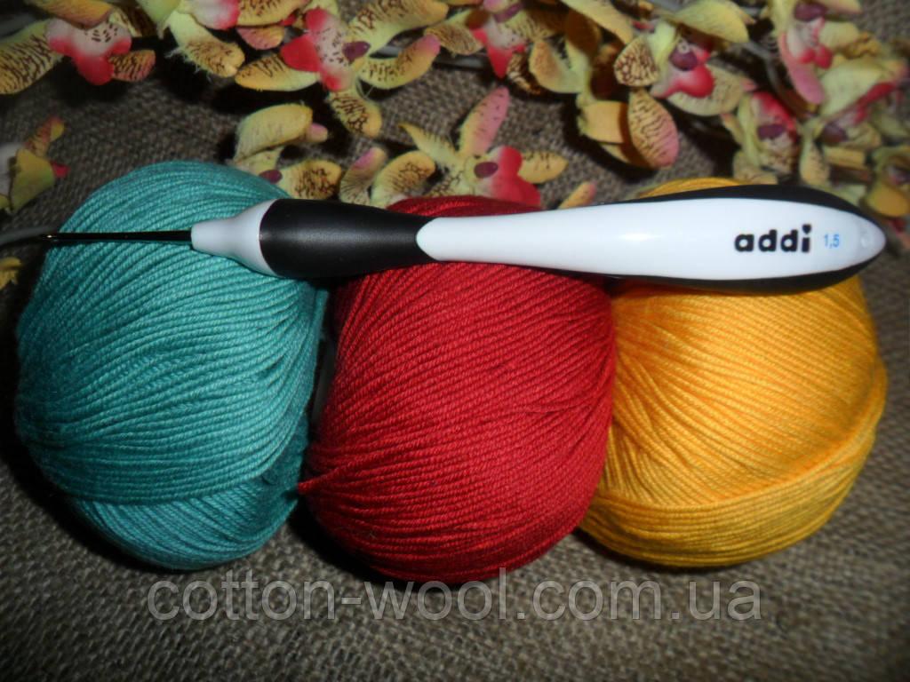Addi swing (Адди) крючок вязальный №1.5,эргономическая ручка