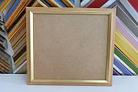 Рамка для картин, икон, фотографий 21*21 (светлое дерево, золото)