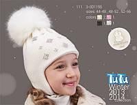 Зимняя шапка для девочки TuTu арт 3-001195 (44-48; 48-52; 52-56), фото 1