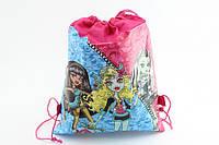 Детская сумочка для сменной обуви  « Monster High »