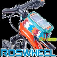 Велосипедная сумка на раму для смартфона Roswheel M Trier Blue