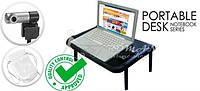 Столик под ноутбук+вебкамера+чехол-флешки 16 32 64