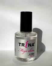 TRINA Mega shine coat - покрытие, эффект мокрых ногтей, 14 мл