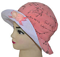 Детская шляпка Анжелика коралл
