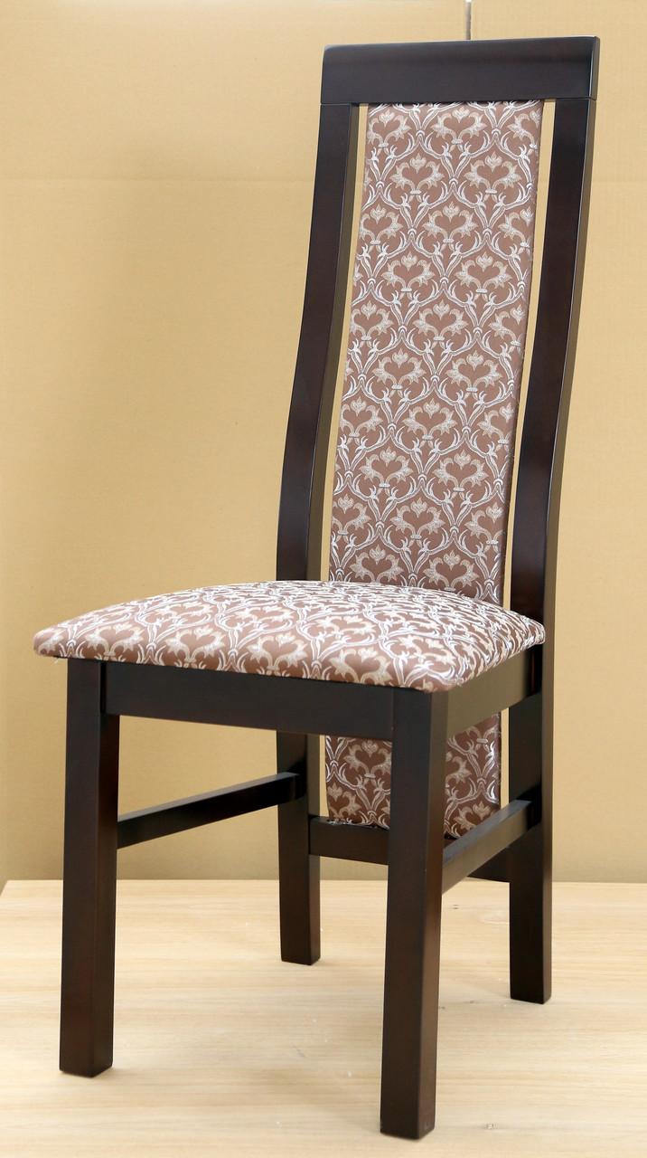 Стул обеденный   деревянный с мягкой спинкой и сиденьем Катрин Микс мебель, цвет темный орех