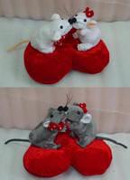 """Мягкая музыкальная игрушка LS 25773 """"Мышиный поцелуй на сердце"""""""