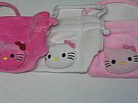 Детская сумочка Hello Kitty плюшевая на затяжках