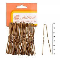 Шпильки для волос медная 7см. ( 50 шт в уп.)