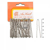 Шпилька для волос серебряная маленькая 5 см. (50 шт.уп.)