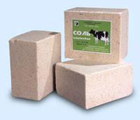 Соль кормовая, брикет, вес 5.1 кг.